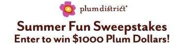 Enter to win $1000 Plum Dollars! Logo